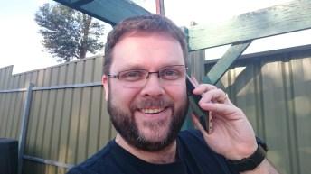 Phil on phone