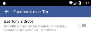 Facebook over TOR