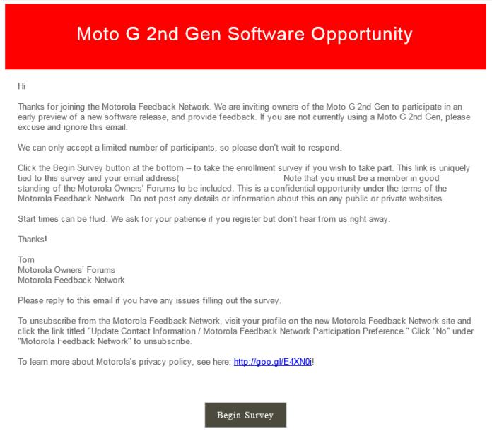 Moto G Gen 2 - Marshmallow