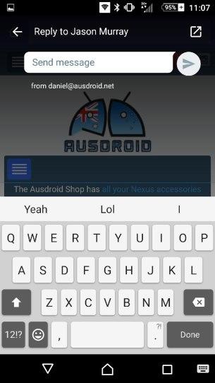 Quick Reply Window
