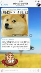 Telegram Admin Signatures - Signed Messages