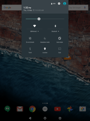 Android Marshmallow Quick Settings