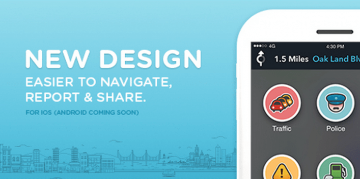 Community based navigation app, Waze gets a huge new redesign for