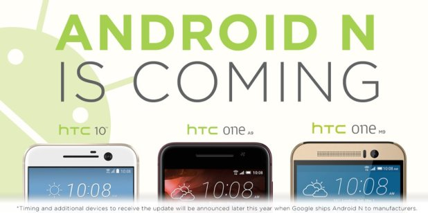 Android N - HTC