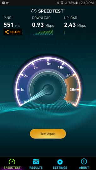 Speedtest poor speed