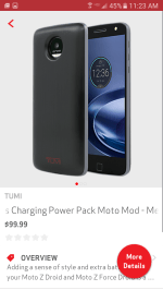 Moto Mod Charging Shell