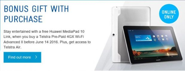 Telstra Bonus tablet deal