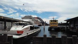 Ferries and a Cruise Ship @ Circular Quay