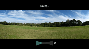 Panoramas take a while to process and save