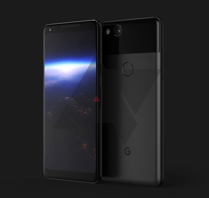 Latest Google Pixel, Pixel XL 2 3D renders shown off