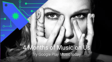 Google Play Black Friday deals include four months of free Play Music