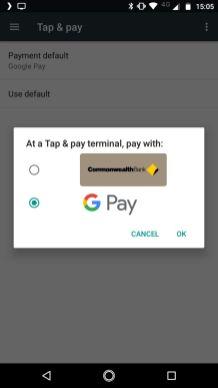 Moto X4 - Google Pay
