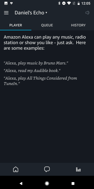 Alexa App - Player
