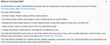 YouTube Red What's Included