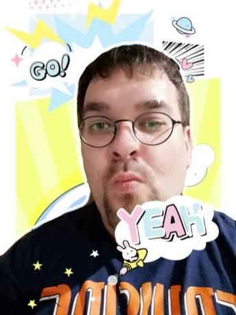 AR Sticker Photo Background - Yeah