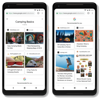Google 1 - Collections