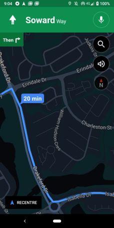 Night Navigation Mode