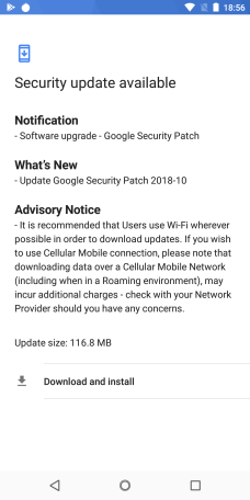 October security update coming through