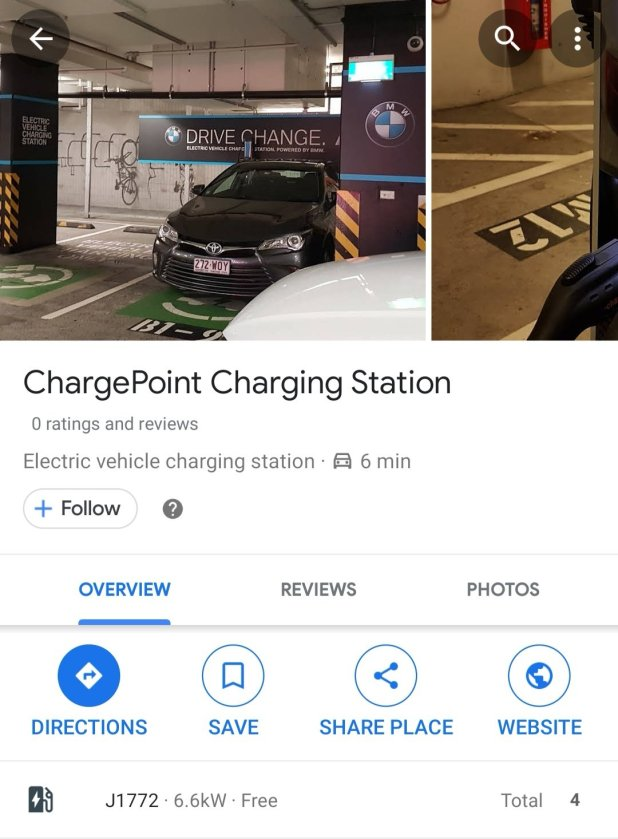 Google Maps adds port availability to EV charging stations