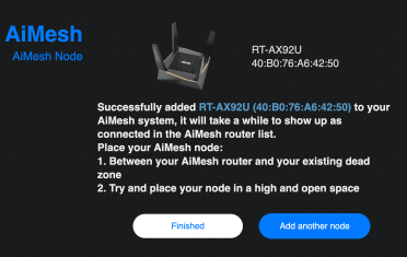 AiMesh add Node