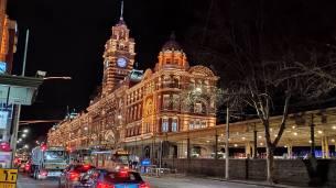 Melbourne Rail at Night