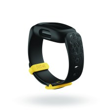 Product render of Fitbit Proxima Kids, dramatic view, in Mischief Black.