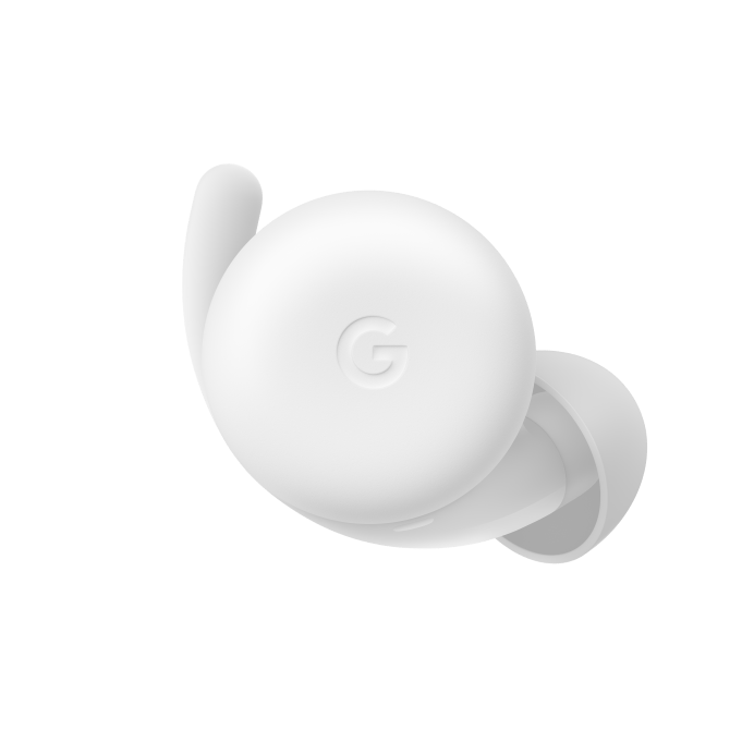 Google Pixel Buds A-Series (Clearly White) - Single Front