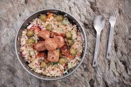 Couscous mit Frikadellen