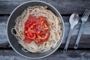 Paprika Tomaten Spaghetti