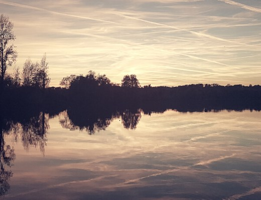 Sonnenuntergang an der Ruhr