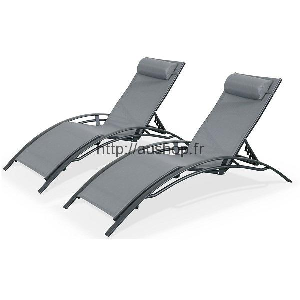 Chaise longue jardin pas cher, transat bain de soleil prix discount