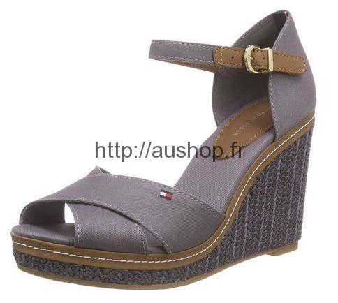 3b20879b9ff83a chaussure tommy hilfiger femme sandales compensees couleur violet ete 2016