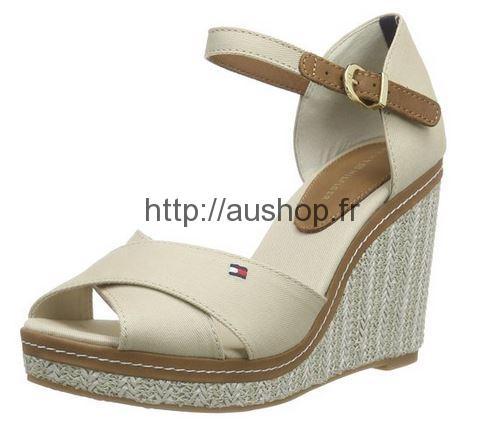 eaa386f9a1a426 Chaussures Tommy Hilfiger femme, sandales compensées pas cher été 2016