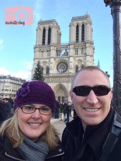In front of Notre Dame