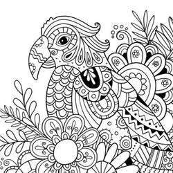 Papagei Ausmalbilder Fr Erwachsene Kostenlos Zum Ausdrucken