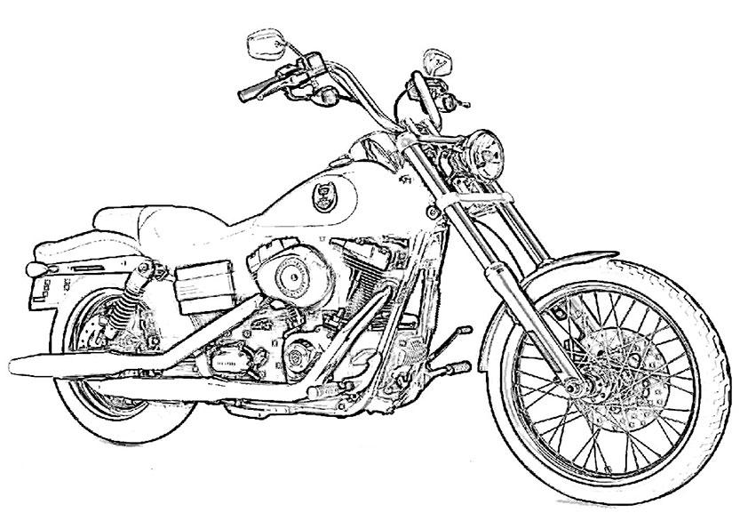 ausmalbilder motorrad2  ausmalbilder kostenlos