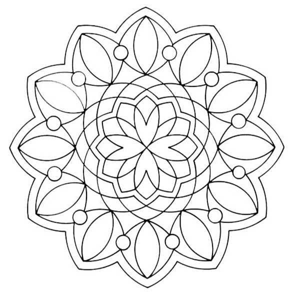 Ausmalbilder Mandala 4 Ausmalbilder Kostenlos