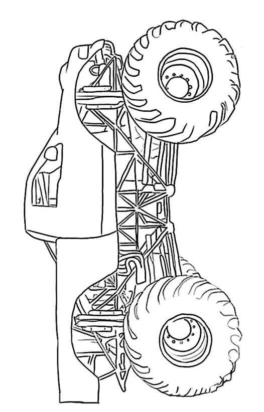 Ausmalbilder Kostenlos Monster Truck 12 Ausmalbilder