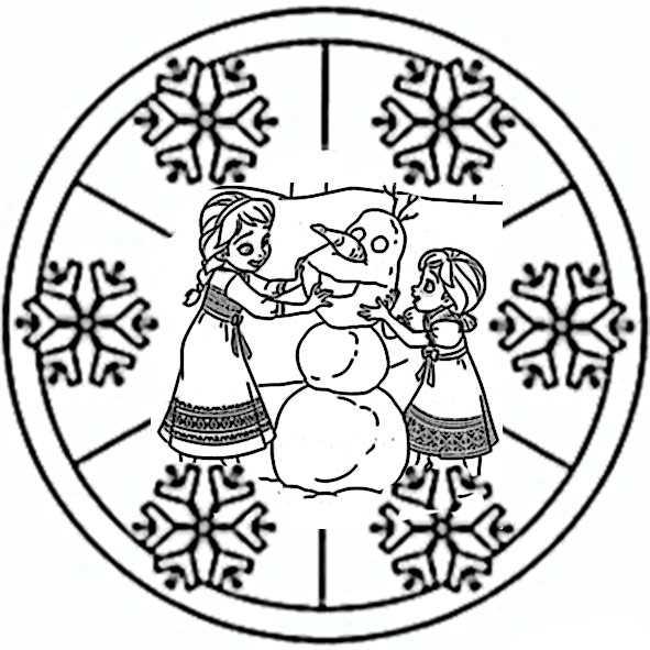 Mandala Eisknigin 2 Ausmalbilder Kostenlos