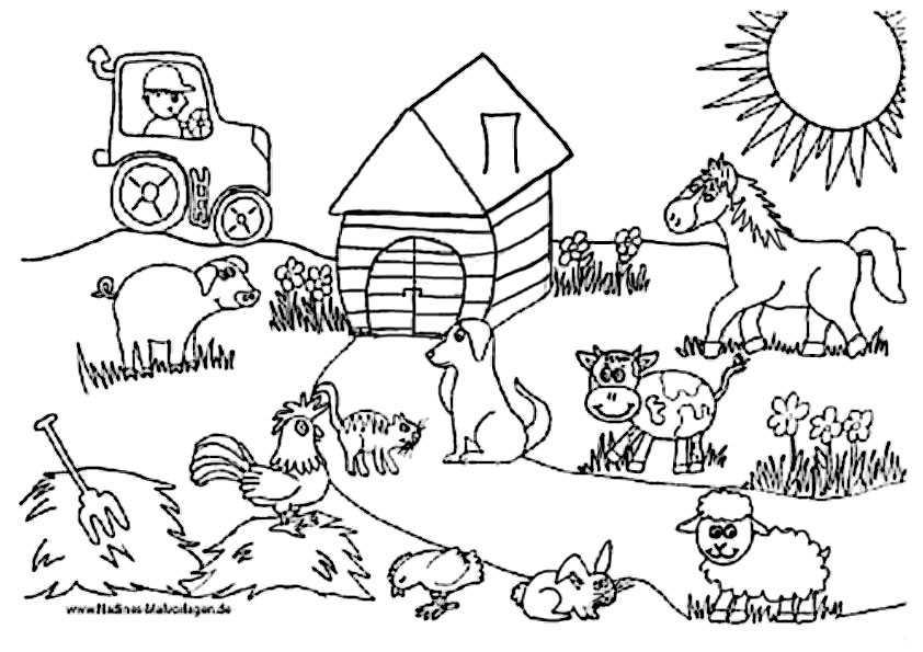 Bauernhof 2 Ausmalbilder Kostenlos