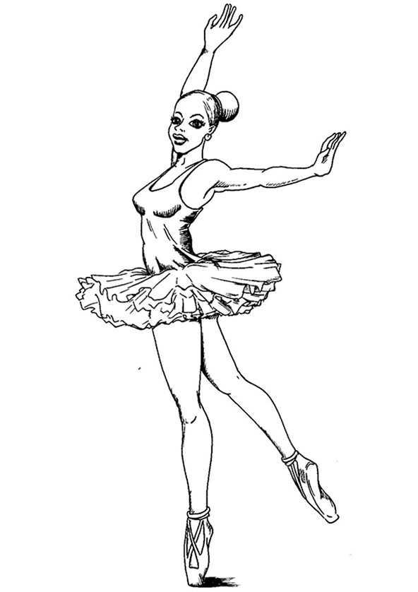 Ballerina 6 Ausmalbilder Kostenlos