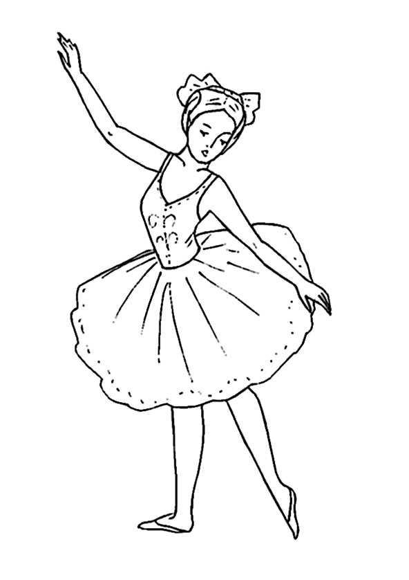 Ballerina 7 Ausmalbilder Kostenlos