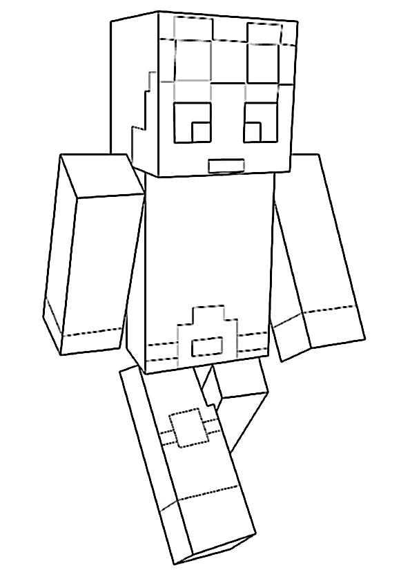 Minecraft 4 Ausmalbilder Kostenlos