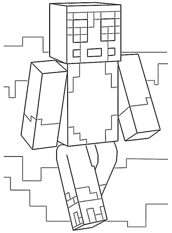 Minecraft 22 Ausmalbilder Kostenlos