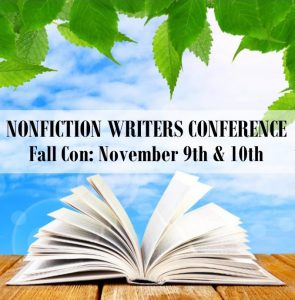 "The Fall Nonfiction Writers Conference, featuring the theme ""Marketing Mastery for Authors,"" happens November 9th & 10th, 2017. This event is completely virtual; attendees participate via phone or Skype. Speakers for NFWC FallCon 2017 include: Jim Horan – Opening Keynote: Ready for Your Author Business to Get Easy? Sandra Beckwith – Build Your Book Marketing Plan Connie Ragan Green – Website Secrets and Content Marketing for Authors Joan Stewart, Book Hooks – Fun, Timely, Creative Angles to Publicize Your Book Dennis Yu – Facebook Marketing for Authors Stephanie Chandler – Advanced Book Marketing Tactics That Get Results Patrick Schwerdtfeger – Keynote Gold: Speaking to Sell More Books Tina Dietz – Marketing with Podcasts and Audio Books The Nonfiction Writers Conference is brought to you by the Nonfiction Authors Association, an educational community for experienced and aspiring writers. If you're ready to accelerate your author career, pull up a seat on your couch and join us for this powerful event! Details and registration: http://nonfictionwritersconference.com/fall-2017-nonfiction-writers-conference/"