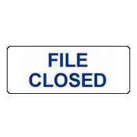 File Closed labels