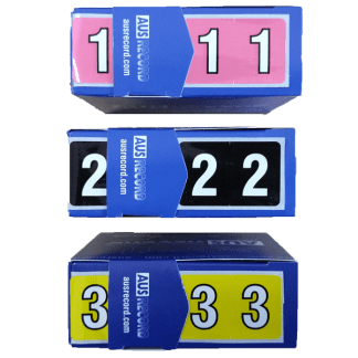 Full size number labels, rolls of 500
