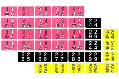 Double number series labels