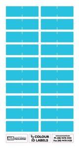 Half size Colour ID Labels. Light Blue
