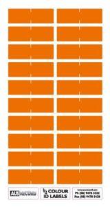Half size Colour ID Labels. Orange